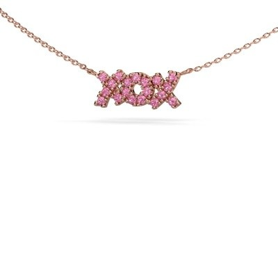 Picture of Necklace XoX 375 rose gold pink sapphire 1.5 mm