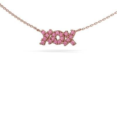 Bild von Kette XoX 375 Roségold Pink Saphir 1.5 mm