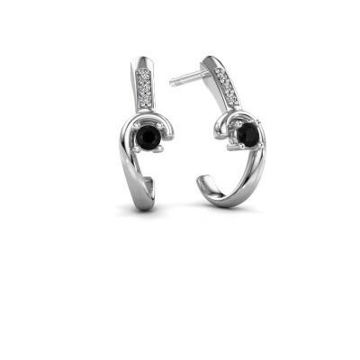 Picture of Earrings Ceylin 925 silver black diamond 0.184 crt