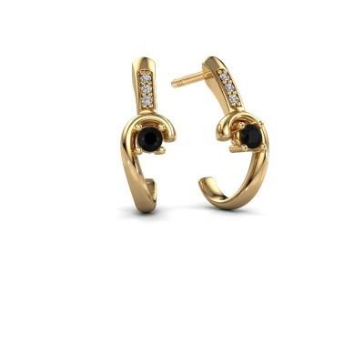 Bild von Ohrringe Ceylin 585 Gold Schwarz Diamant 0.184 crt