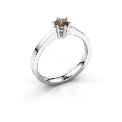 Foto van Verlovingsring Noortje 585 witgoud bruine diamant 0.25 crt