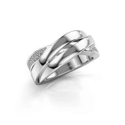 Foto van Ring Tegan 585 witgoud diamant 0.166 crt