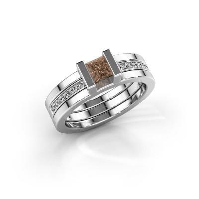 Foto van Ring Desire 925 zilver bruine diamant 0.535 crt