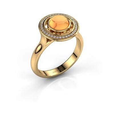 Foto van Ring Salima 585 goud citrien 6 mm