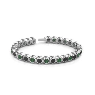 Foto van Tennisarmband Delma 585 witgoud smaragd 5 mm