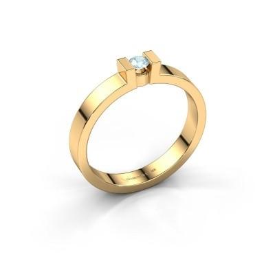 Foto van Verlovingsring Lieve 1 585 goud aquamarijn 3 mm
