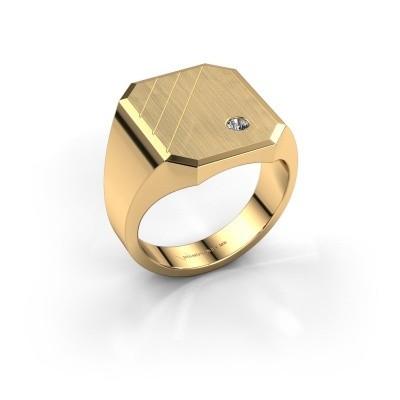 Foto van Zegelring Patrick 5 585 goud diamant 0.03 crt