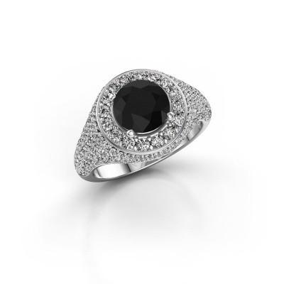 Foto van Ring Dayle 950 platina zwarte diamant 2.723 crt