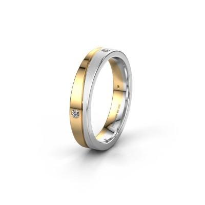 Trouwring WH0901L14APM 585 goud diamant ±4x1.7 mm