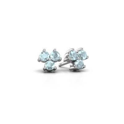 Picture of Stud earrings Shirlee 925 silver aquamarine 3 mm