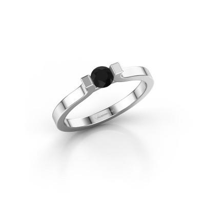 Foto van Verlovingsring Jodee 585 witgoud zwarte diamant 0.30 crt