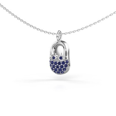 Picture of Pendant Babyshoe 375 white gold sapphire 1.3 mm