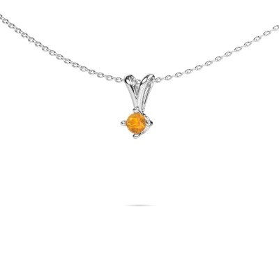 Picture of Necklace Jannette 925 silver citrin 3.7 mm