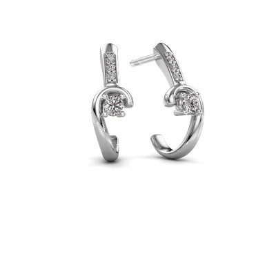 Picture of Earrings Ceylin 925 silver zirconia 2.5 mm
