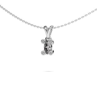 Foto van Ketting Cornelia Marquis 950 platina diamant 0.37 crt