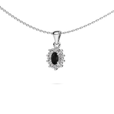Picture of Necklace Leesa 950 platinum black diamond 0.80 crt