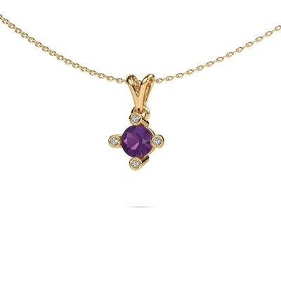 Picture of Pendant Cornelia Round 375 gold amethyst 5.5 mm