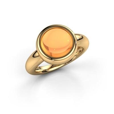 Foto van Ring Jenae 585 goud citrien 10 mm