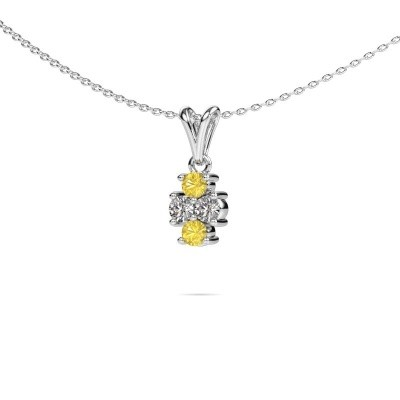Picture of Necklace Richelle 950 platinum yellow sapphire 3 mm