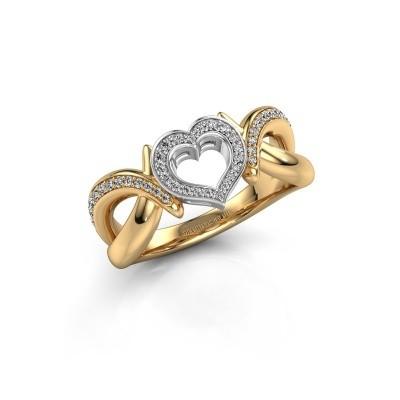 Ring Earlie 2 585 goud diamant 0.244 crt