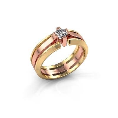Foto van Heren ring Sem 585 rosé goud zirkonia 4.7 mm
