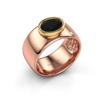Foto van Ring Anouschka 585 rosé goud zwarte diamant 1.380 crt