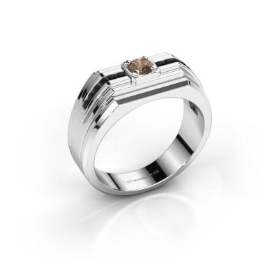 Foto van Heren ring Oliver 925 zilver bruine diamant 0.466 crt