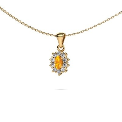 Picture of Necklace Leesa 375 gold citrin 6x4 mm