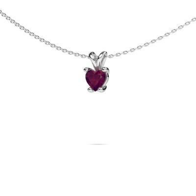 Picture of Necklace Sam Heart 950 platinum rhodolite 5 mm