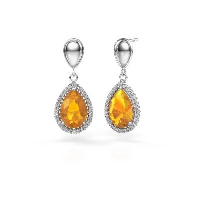 Picture of Drop earrings Cheree 1 950 platinum citrin 12x8 mm