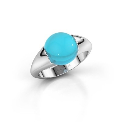Picture of Ring Robine 375 white gold blue topaz 10 mm