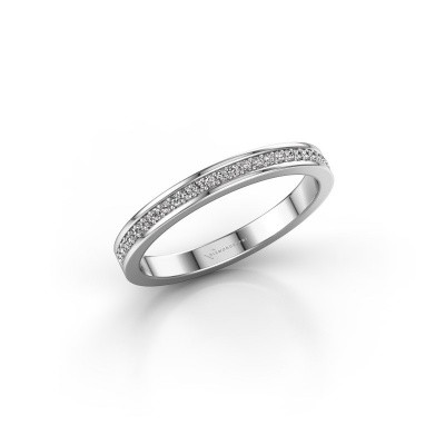 Picture of Stackable ring SRH0030B20H2 585 white gold diamond 0.135 crt