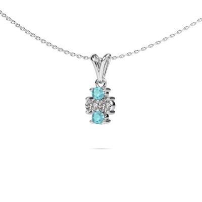 Picture of Necklace Richelle 950 platinum blue topaz 3 mm