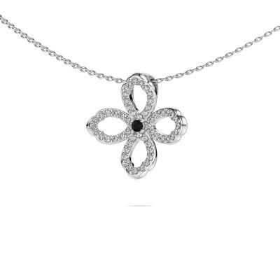 Bild von Kette Chelsea 585 Weissgold Schwarz Diamant 0.316 crt