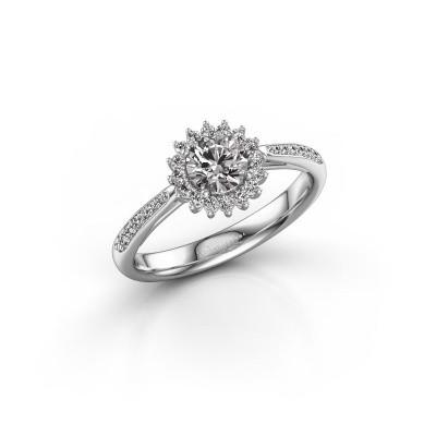 Picture of Engagement ring Mariska 2 585 white gold diamond 0.71 crt