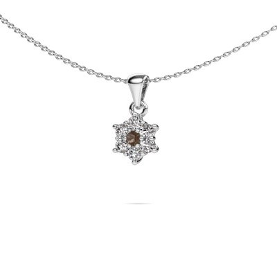 Picture of Necklace Chantal 925 silver smokey quartz 2.4 mm