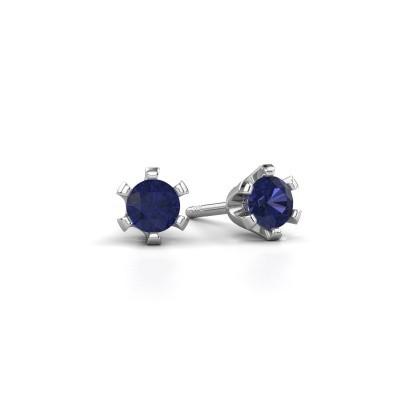 Picture of Stud earrings Shana 950 platinum sapphire 4 mm