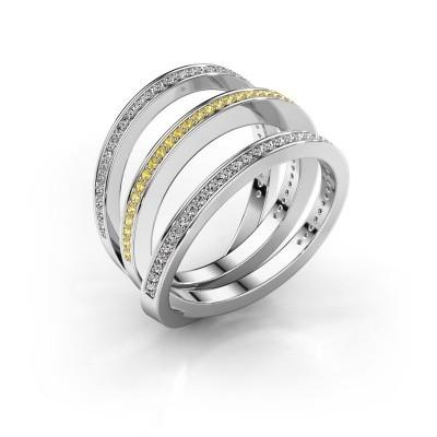 Foto van Ring Jaqueline 925 zilver gele saffier 1 mm