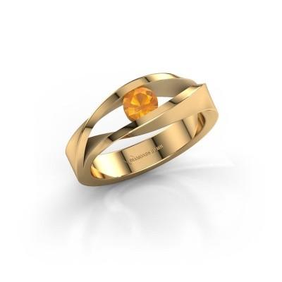 Foto van Ring Ruthanne 585 goud citrien 4.2 mm