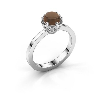 Foto van Ring Marly 925 zilver rookkwarts 6 mm