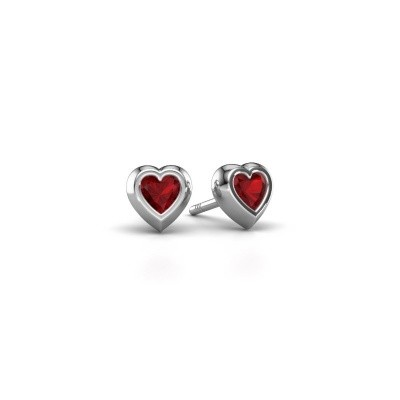 Picture of Stud earrings Charlotte 925 silver ruby 4 mm