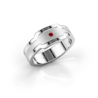 Foto van Heren ring Guido 950 platina robijn 2 mm