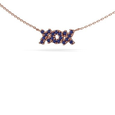 Picture of Necklace XoX 375 rose gold sapphire 1.5 mm