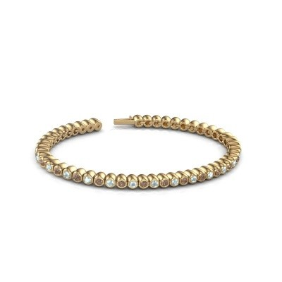 Foto van Tennisarmband Patrica 375 goud bruine diamant 2.75 crt