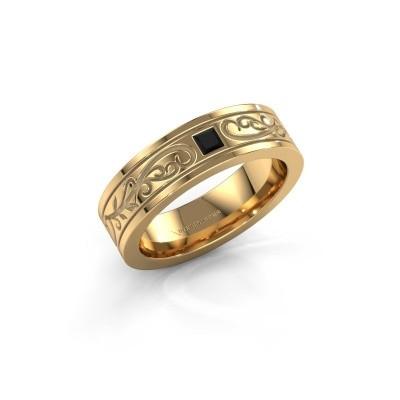 Foto van Heren ring Matijs 750 goud zwarte diamant 0.204 crt