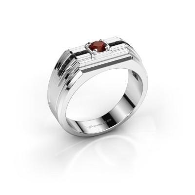 Foto van Heren ring Oliver 925 zilver granaat 4 mm