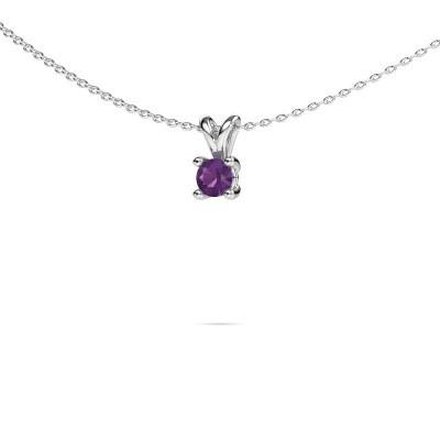Picture of Necklace Sam round 950 platinum amethyst 4.2 mm