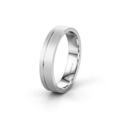 Trouwring WH0158M14XM 585 witgoud ±4x1.5 mm