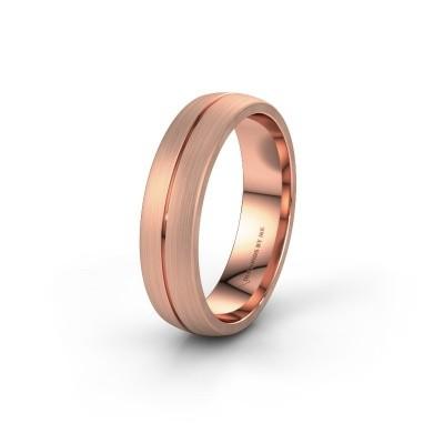 Trouwring WH0162M25A 585 rosé goud ±5x1.7 mm