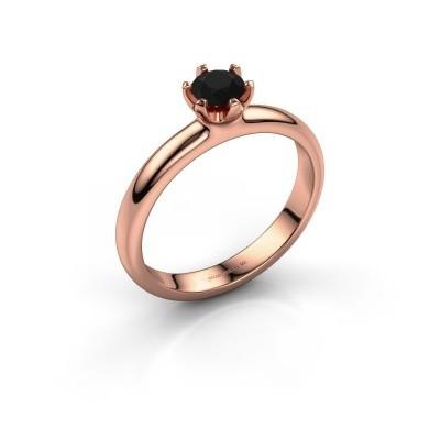 Foto van Verlovingsring Lorretta 585 rosé goud zwarte diamant 0.48 crt